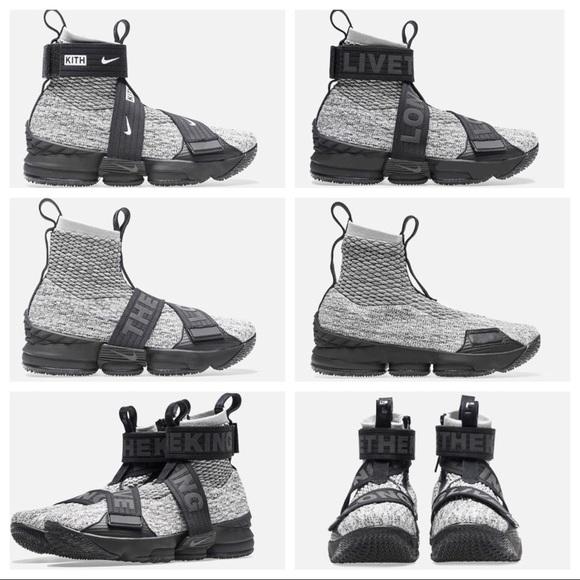 low priced f6e1f 2b935 Kith x Nike LeBron 15 Lifestyle 'Concrete' NWT